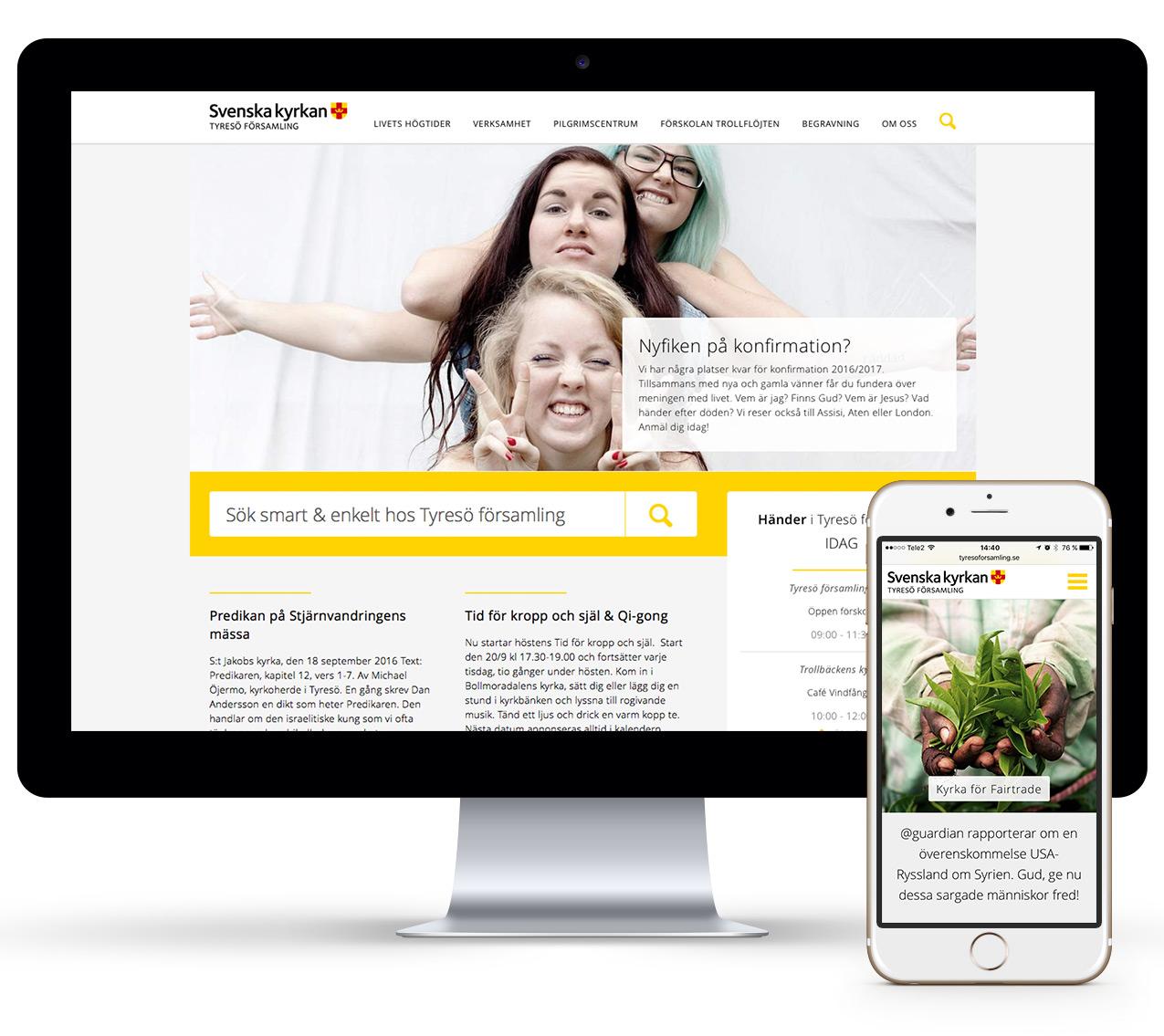 Tyresö församling Wonderfour webbyrå