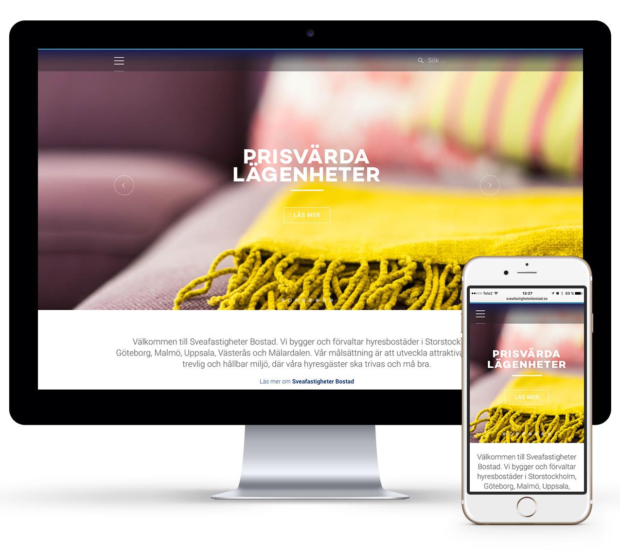 Sveafastigheter Bostad Wonderfour webbyrå