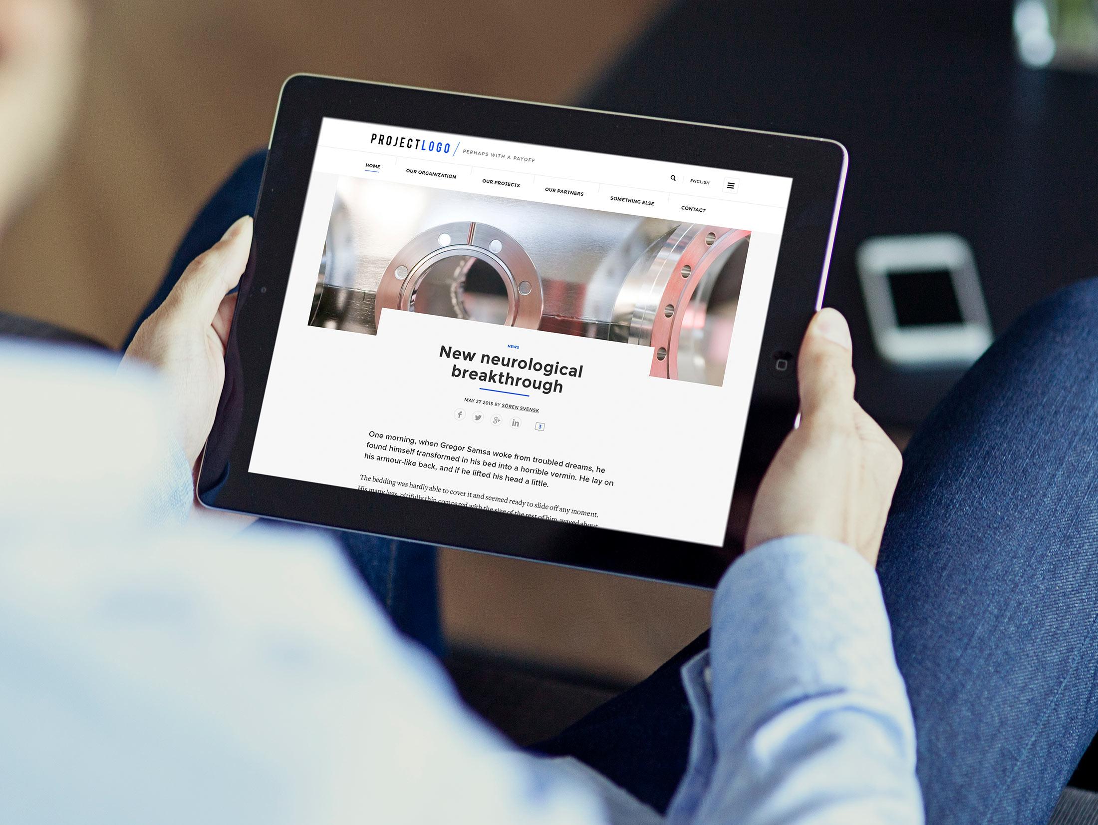 Vetenskapsrådet VR iPad Wonderfour