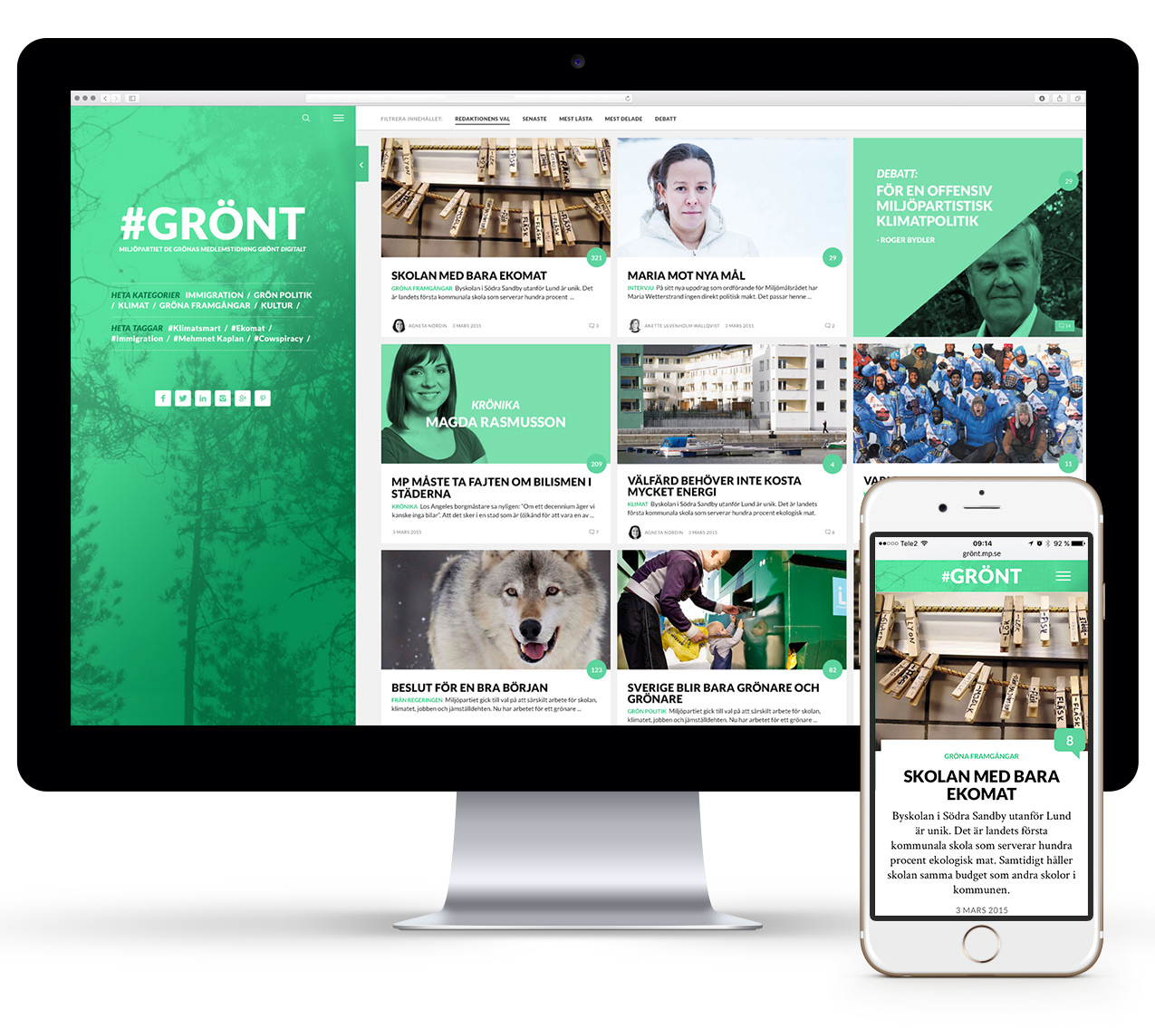 Grönt Wonderfour webbyrå