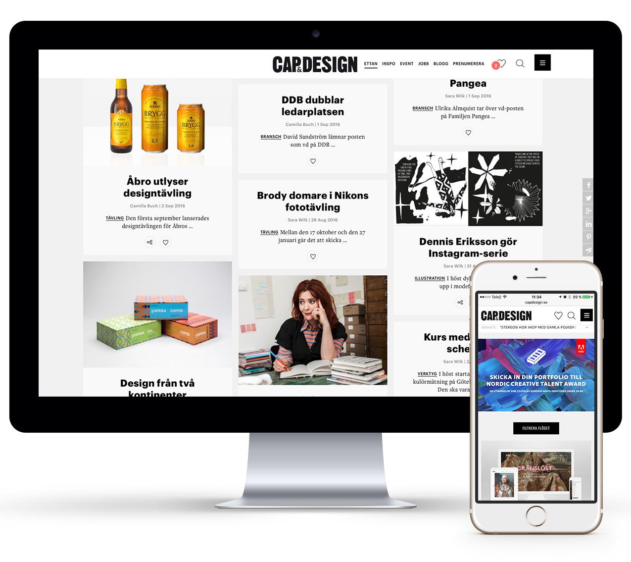 CAP&Design Wonderfour webbyrå