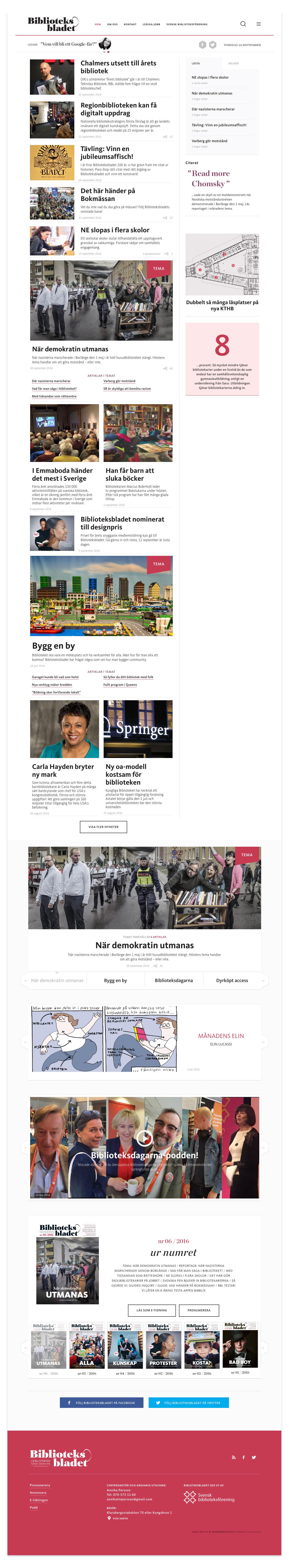 Biblioteksbladet Wonderfour webbyrå