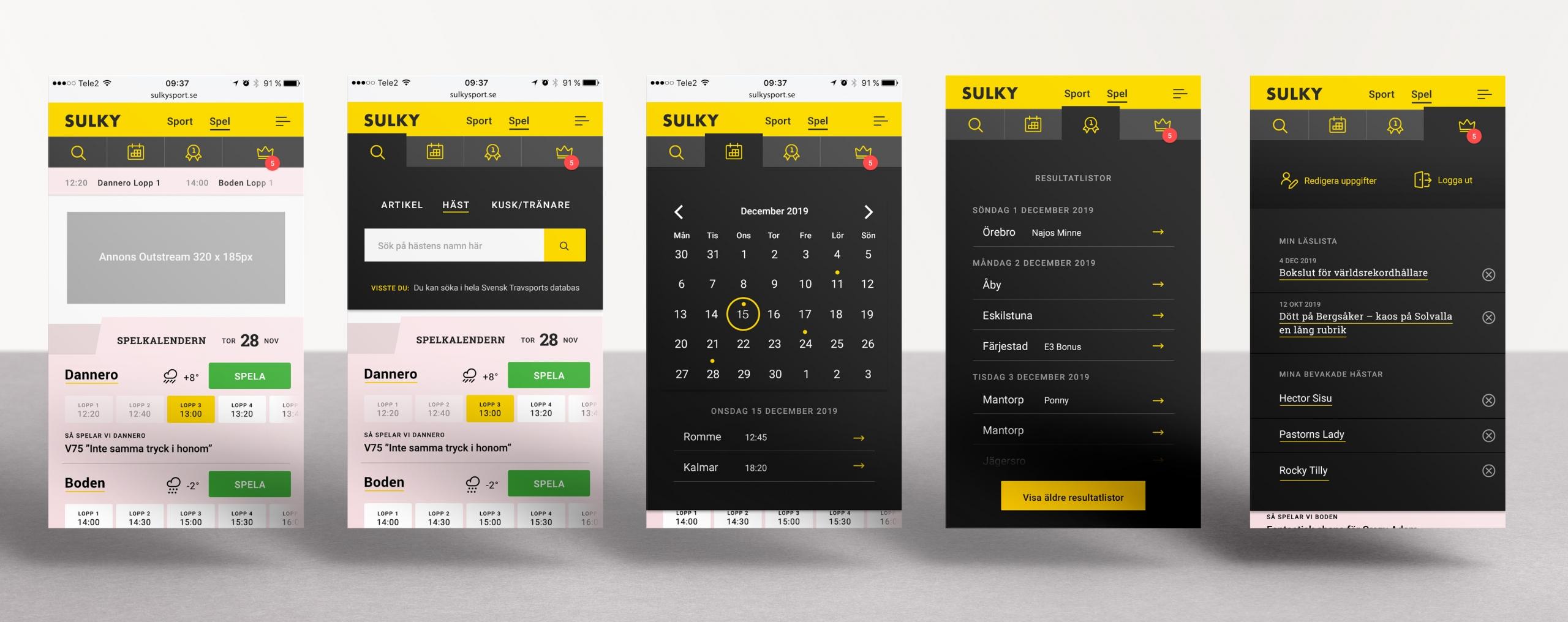 Sulky trav sport spel digitalbyrå Wonderfour