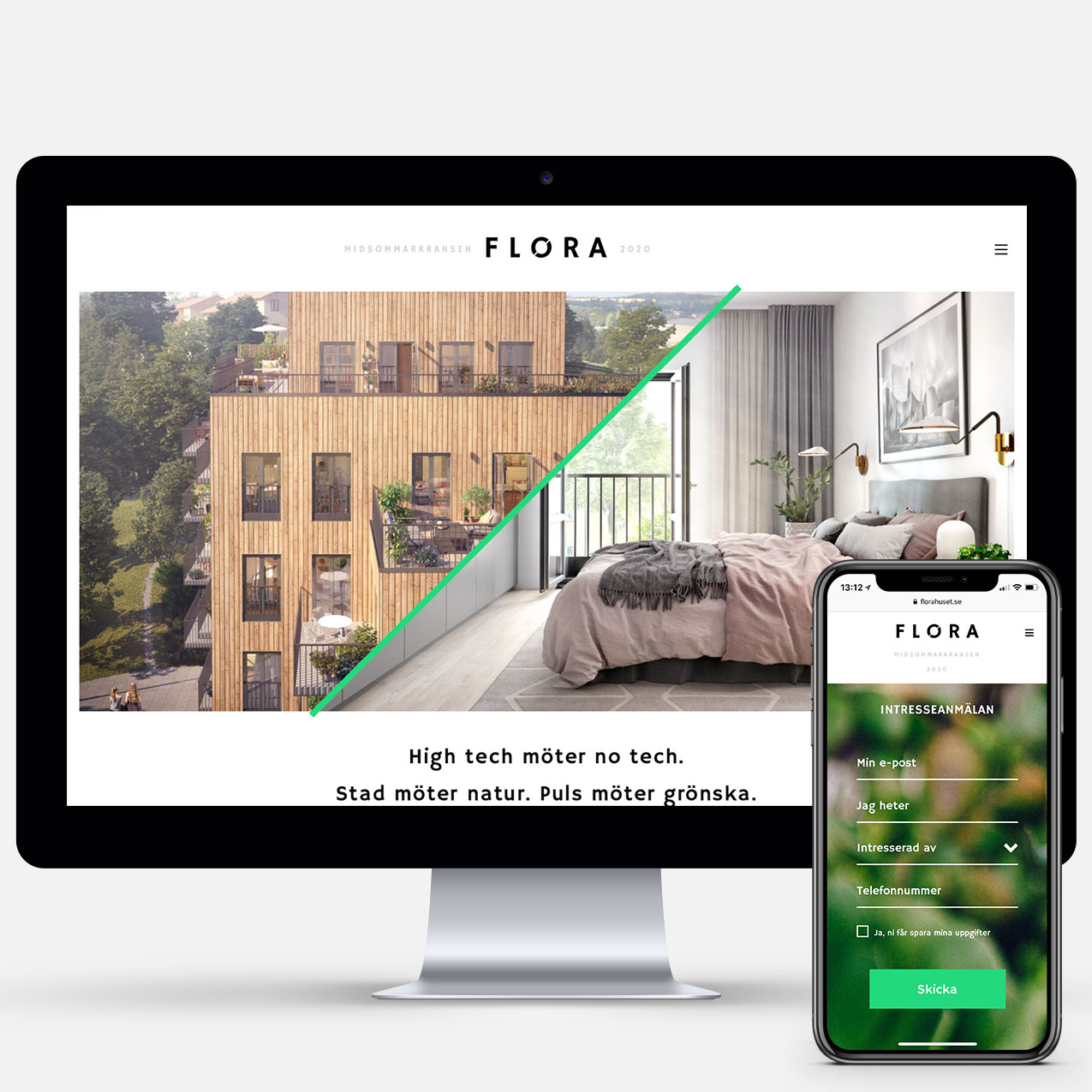 Flora webb / mobil WordPress