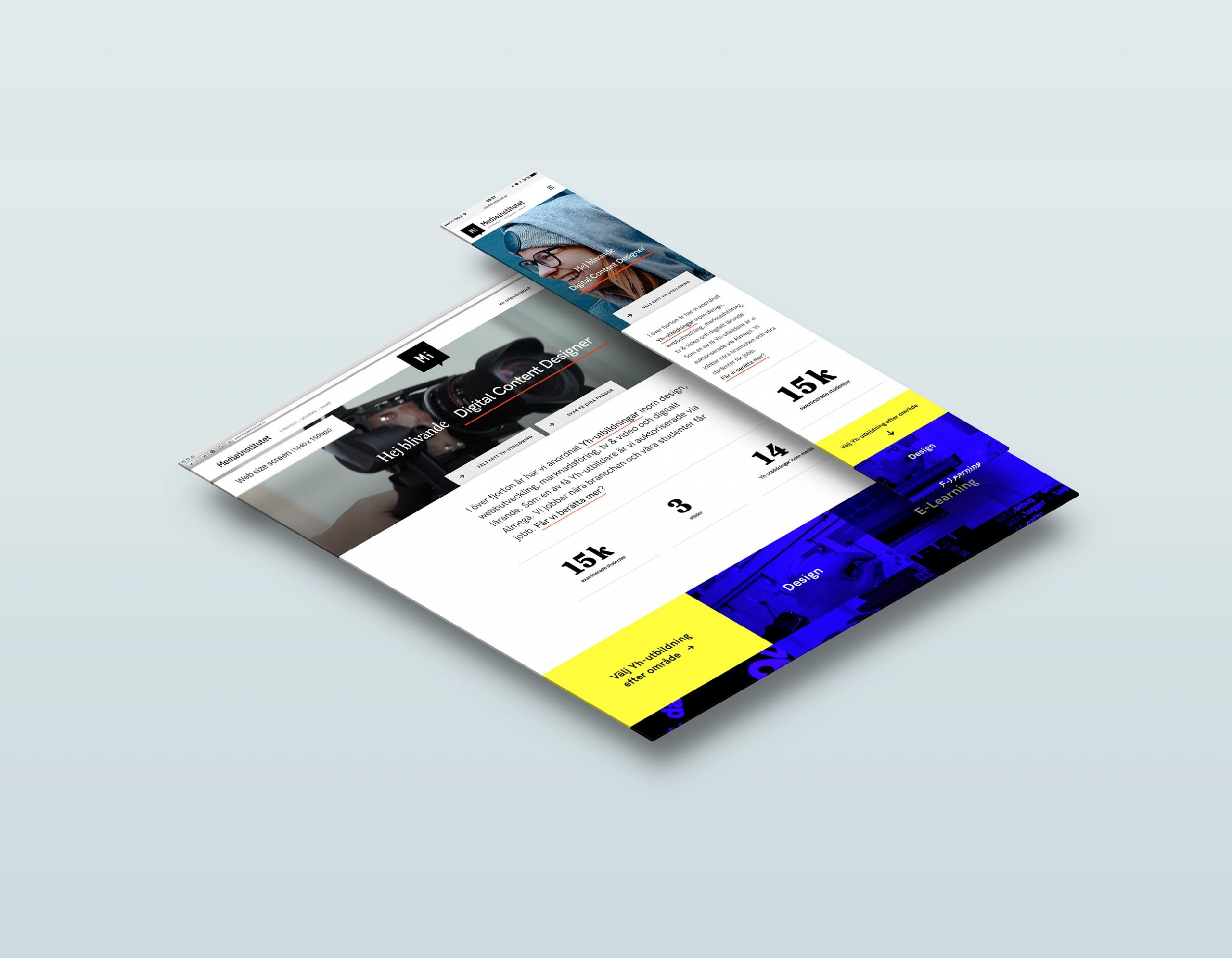 Medieinstitutet webb responsiv Wonderfour