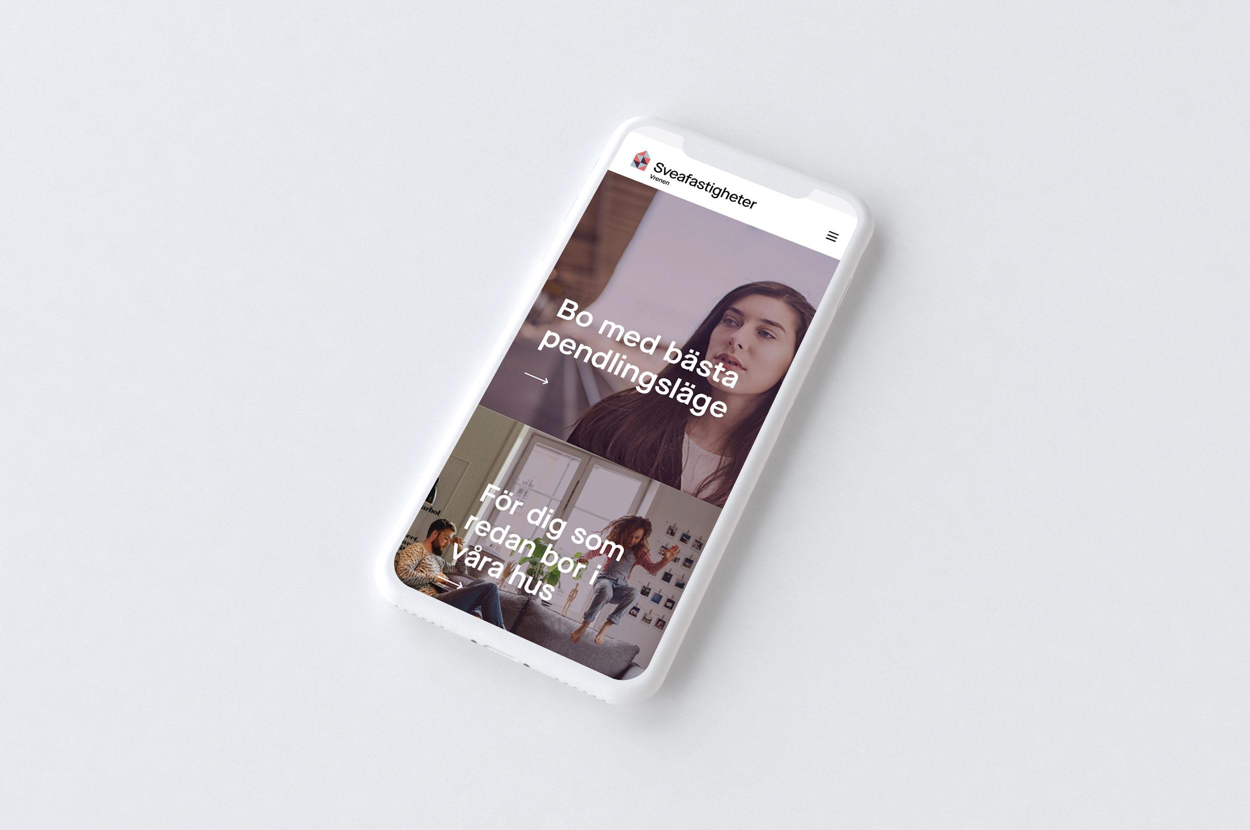 Sveafastigheter mobil digitalbyrå Wonderfour