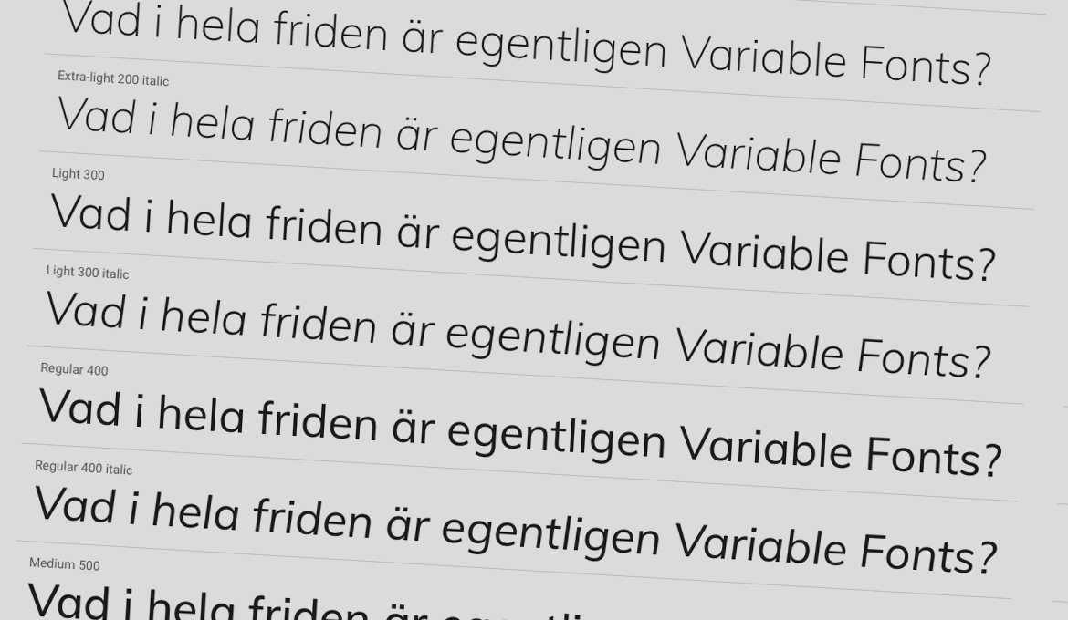 Snabbare webb med Variable Fonts