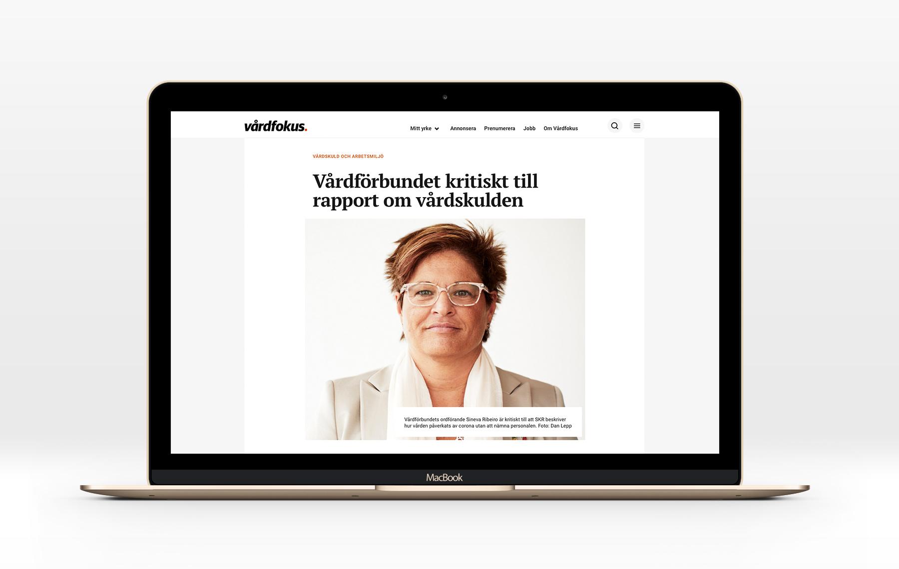 webbtidning tidningen Vårdfokus