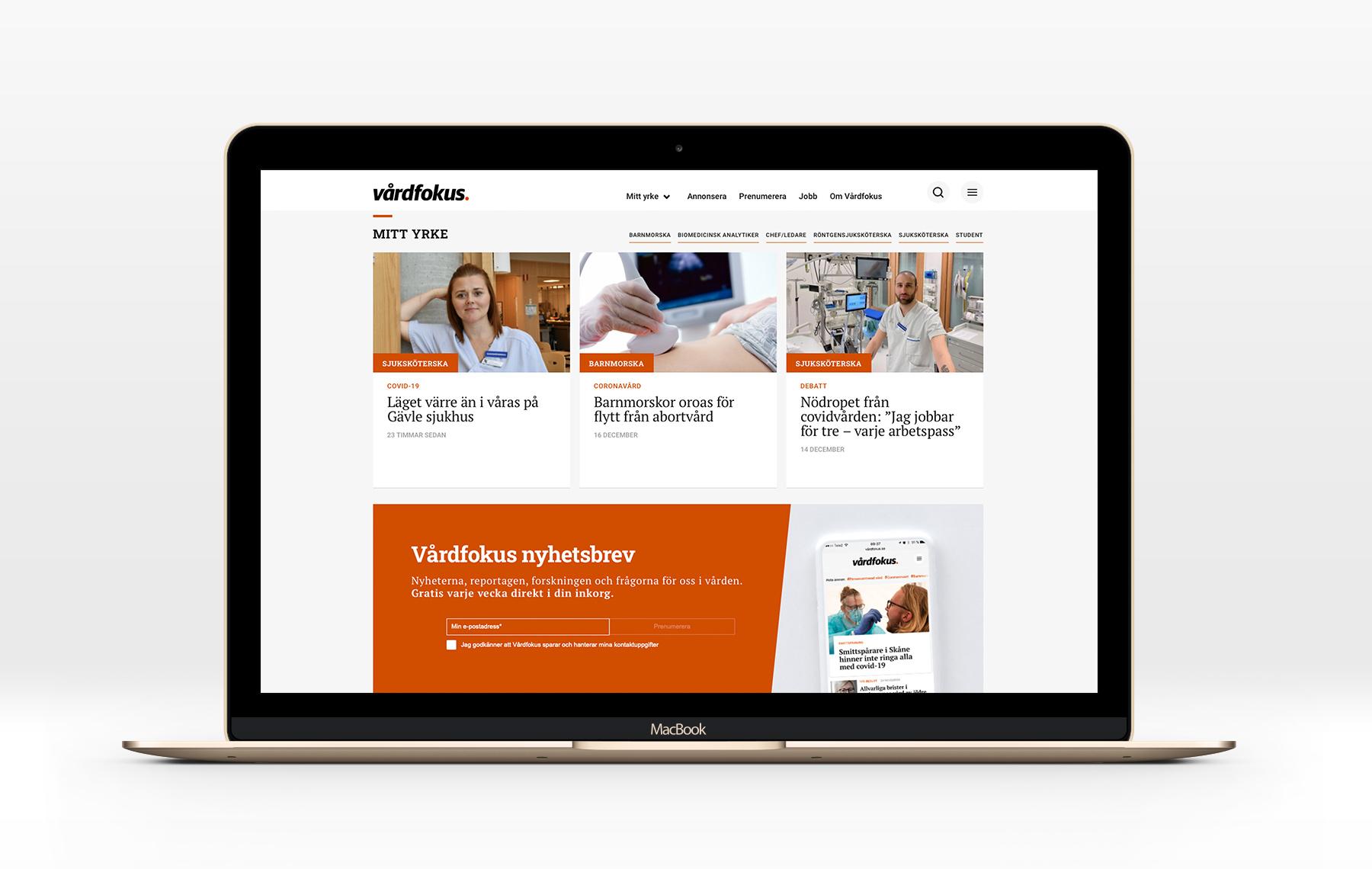 Tidningen Vårdfokus digital webbtidning