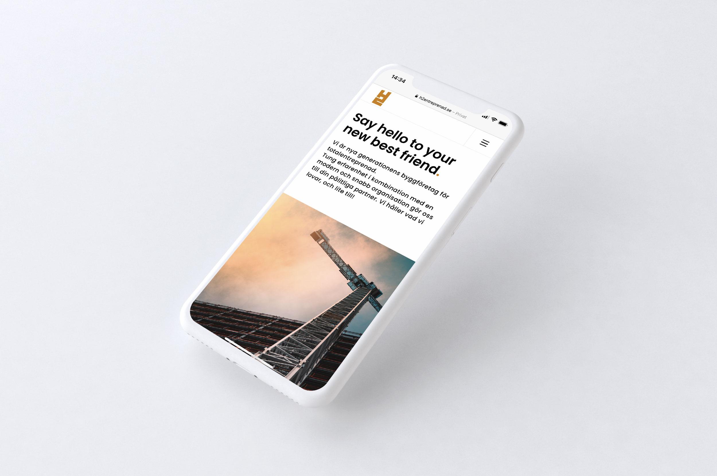 H2 Entreprenad webbplats wordpress