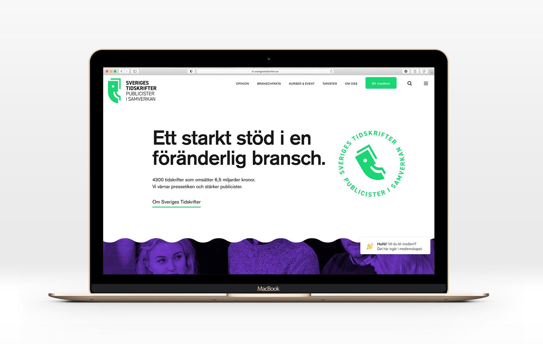 Sveriges Tidskrifter webb desktop