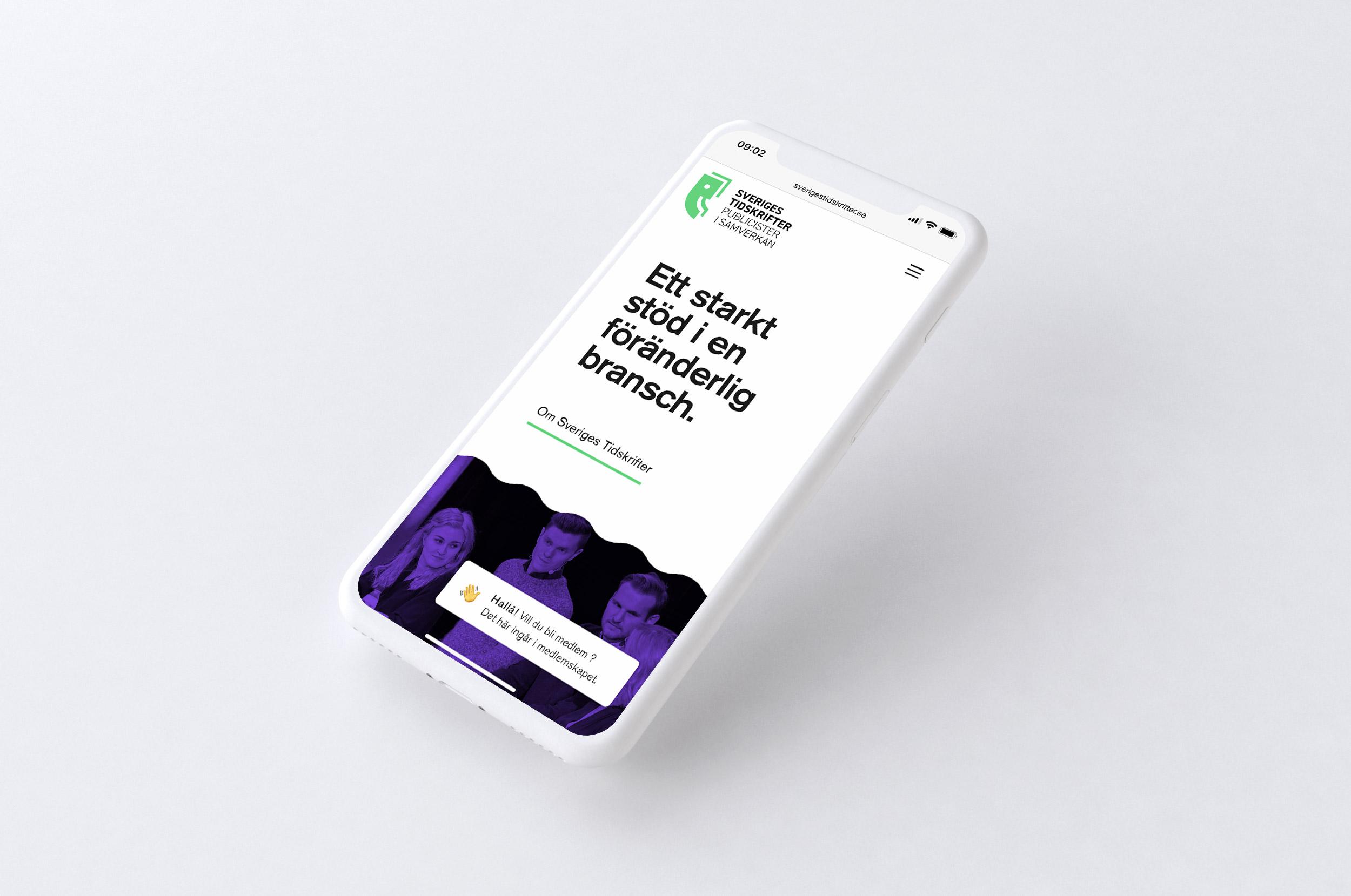 Sveriges Tidskrifter webb mobil